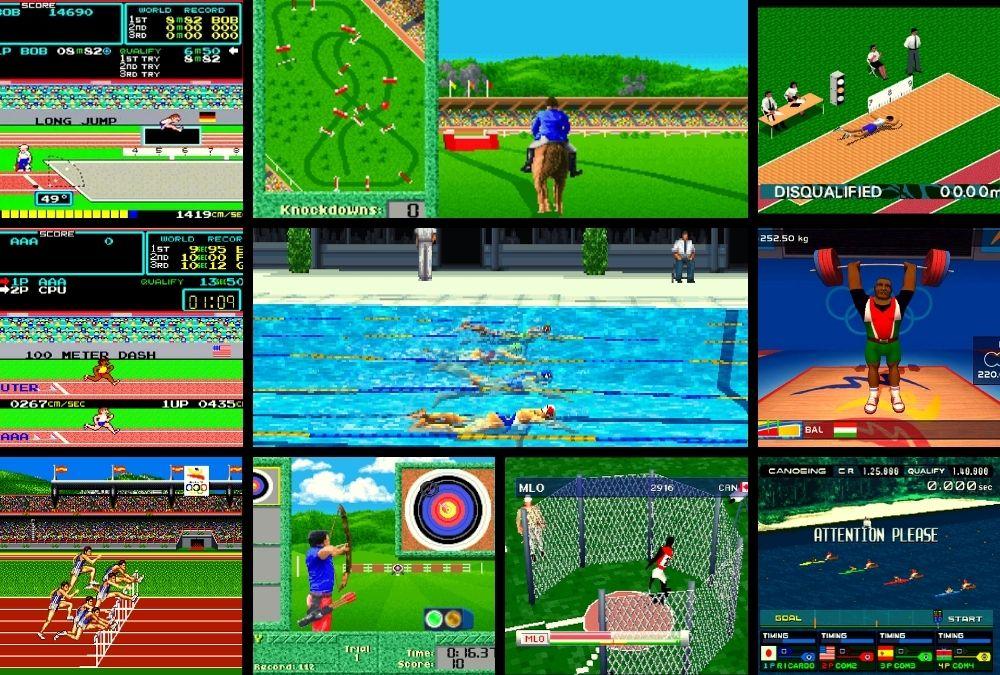 Az első olimpiai témájú videójátékok